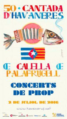 Havanerus, Cartell 50ena Cantada d'Havaneres de Calella de Palafrugell